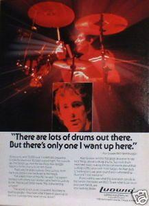 Alan Gratzer REO Speedwagon | 1984-Ludwig-Drums-Ad-with-Alan-Gratzer-REO-Speedwagon