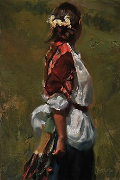 "Saunter by Johanna Harmon Oil on Linen ~ 18""H x 12""W"