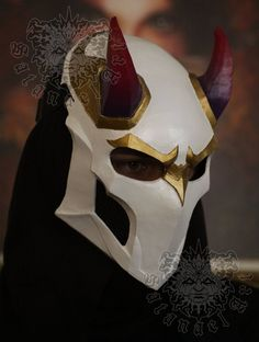 League of Legends: Blood Moon Jhin mask Handmade & paint fiberglass mask. League of Legends: Blood Moon Jhin mask Jhin Mask, Skull Mask, Character Concept, Character Art, Character Design, Helmet Design, Mask Design, Armor Concept, Concept Art