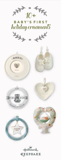 Your baby's first Christmas is going to be a memorable one, so pick out the perfect gift from Hallmark's Keepsake Ornaments to remember it by. Choose from over 10 ornaments like a heart-shaped swing, porcelain baby booties and more. You can also personalize each by adding a photo or engraving your child's name into it. Shop online or at your nearest Hallmark Gold Crown store.