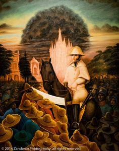 """""""Ignacio Allende"""" de Octavio Ocampo."""