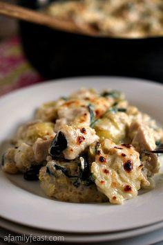 Quinoa With Spinach, Artichokes and Chicken