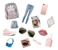 """Lina city of ember"" by madison1605 on Polyvore featuring adidas, Givenchy, Converse, CC, Beats by Dr. Dre, Olivia Burton, Humble Chic, Lime Crime and Essie"