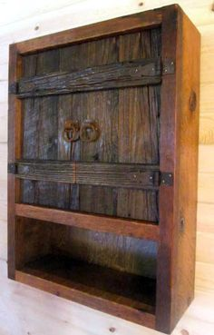 WEATHERED Gray WOOD TOILET Cabinet Rustic by BarnWoodFurniture72