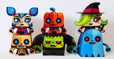 Halloween papertoys de Gus Santome (x 6)