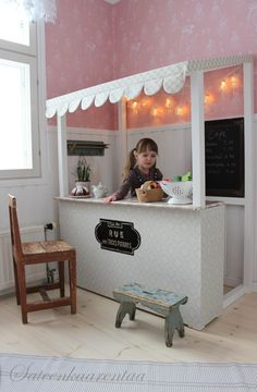 Delightful Modern Kids Cafe: 87 Cool Interior Designs www. Casa Kids, Kids Cafe, Deco Kids, Toy Rooms, Modern Kids, Cafe Interior, Interior Design, Kids Corner, Little Girl Rooms