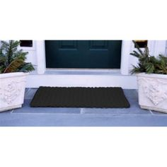 Cape Cod Black Doormat Size - Deck Doormat-40L x 22W inches by Cape Cod Doormats. $76.99. Reversible. Traps dirt, sand, and snow. Quick-drying and stain-resistant. Black, 100% polypropylene. Choice of sizes. The Cape Cod Black Doormat is a classic color that is ideal for a front or back door. Made of durable polypropylene, this doormat is stain-resistant and quick-drying, making it ideal for any home. The choice of sizes accommodates all styles of porches, decks, and entries. ...