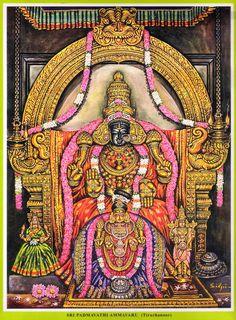Sri Padmavathi (Lakshmi), art by Silpi