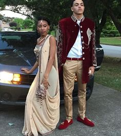 Lost for Prom inspiration? From picking out the poses for the pictures, selecting the perfect location for the shoot, and finding a bomb car to roll up in there Indian Prom Dresses, Homecoming Dresses, Prom Goals, Prom Couples, Prom Photos, Prom Outfits, Prom Night, Formal Prom, Poses