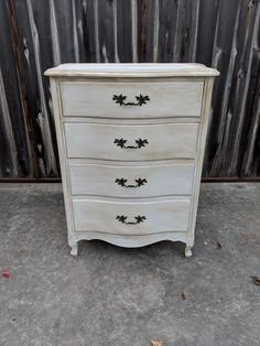 OMG these French pieces are so cute! This would be perfect in the little princess' new room don't you think? The dimensions are L, W, H Shabby Chic Chest Of Drawers, New Room, French, Princess, Home Decor, Products, Decoration Home, French People, Room Decor