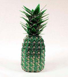 The amazing Stephen Rodrig's piña data, a pineapple made from e-waste #ewaste #art! #Attero #Creativity #BestoutofWaste #Recycle