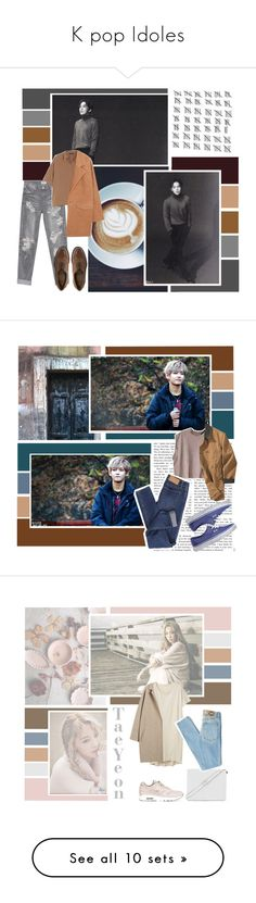 """""""K pop Idoles"""" by channie-exo ❤ liked on Polyvore featuring One Teaspoon, Donna Karan, ASOS, MANGO, chic, grey, brown, xiumin, sobre and H&M"""