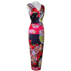 DOLCE&GABBANA Collectors dress AMAZING print and rear detail 40 fits 4 to 6 | From a collection of rare vintage evening dresses at https://www.1stdibs.com/fashion/clothing/evening-dresses/
