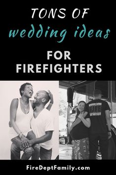 HOT firefighter wedding trends and gear for your Firefighter Wedding! Check out this post for inspiration and ideas for your upcoming big day! Firefighter Training, Firefighter Family, Firefighter Wedding, Wildland Firefighter, Female Firefighter, Firefighter Gifts, Volunteer Firefighter, Firefighters, Firefighter Quotes