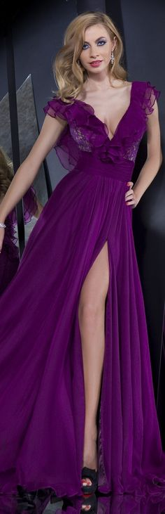 Rochii de Seara - Colectia Velvet Angels/2014 ~ beautiful - PURPLE!  HotWomensClothes.com