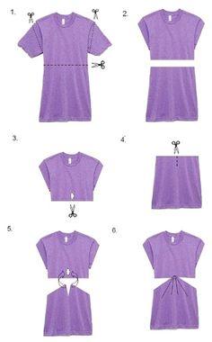 how to cut av neck shirt cute