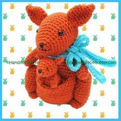 Mummy Kangaroo and Baby Kangaroo Amigurumi PDF Crochet Pattern by HandmadeKitty. $4.99, via Etsy. -- For Mwelu