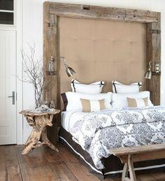 rustikales Schlafzimmer-Einrichtung Bett