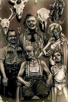Hewitt Family Portrait ... the artist was never seen or heard from again.  Texas Chainsaw Massacre