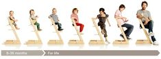 tripp trapp grows with you, this ergonomic chair can accomodate any and all ages...we LOVE ours! @STOKKE®