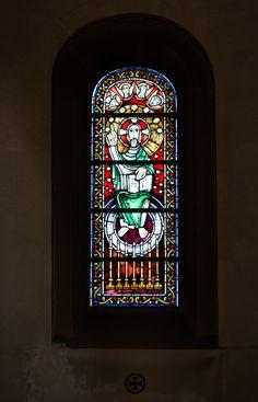 https://flic.kr/p/Q9TB7R | Majestas Domini | Jupp Gesing, 1983 Fenster im Seitenchor Antikglas/Blei/Schwarzlot