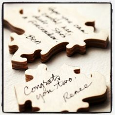 Wedding puzzle guestbook. Custom made and personalized. Http://Bella-puzzles.myshopify.com