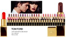 The Beauty Cove: TOM FORD • LIPS AND BOYS are back! Nuova collezione 2015