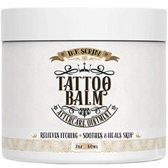 Premium Tattoo Aftercare Healing Balm Ointment - Ink Scribd - Relieves Itching, Soothes, Heals - Tattoo Brightener Cream with All Natural and Anti-inflammatory Herbal Ingredients - Tattoo Care Best Tattoo Aftercare Products, Tattoo Care Instructions, New Tattoos, Cool Tattoos, Benzalkonium Chloride, Itch Relief, Blue Tattoo, Soap Shop, Sensitive Skin