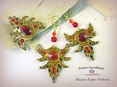 Indrani Handmade Boho Chic, Bohemian, Modern Hippie, Polymer Clay Jewelry, Bracelets, Brooch, Handmade, Fimo, Hand Made