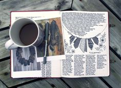 A Peek Inside Rebecca's Abstract Art Journal ....Check this out: http://artcaffeine.imobileappsys.com