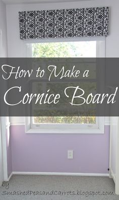 Easy DIY Cornice Boards...so light you can hang them with two trim nails!