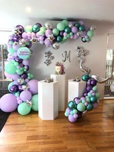 A beautiful Mermaid concept by one of my favourite clients. Happy first birthday Mermaid Maddison Balloon Decorations Party, Birthday Party Decorations, Baby Shower Decorations, Birthday Parties, Birthday Cake, Balloon Arch, Balloon Garland, Balloon Ideas, Balloon Wall