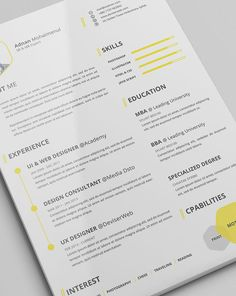 A résumé acts as your first impression on a potential employer — this beautifully designed one is a good first impression to make.