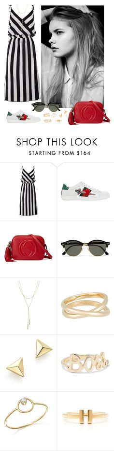 """Untitled #69"" by rafieldshow ❤ liked on Polyvore featuring Marc Jacobs, Gucci, Ray-Ban, Bloomingdale's, Maison Margiela, ZoÃ« Chicco, Alison Lou and Tiffany & Co."