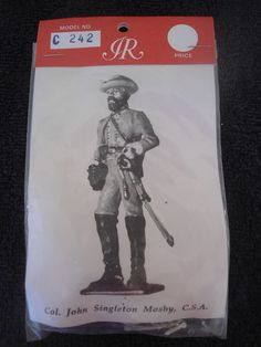 Imrie #C242 54mm 1/32 Col John Singleton Mosby CSA White Metal Military Figure #Imrie
