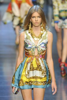 Dolce and Gabbana scarf dress. Love!