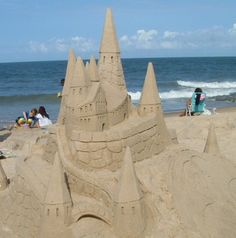 Summer might be over, but the beaches are still open. Check out this article on how to build a sandcastle. Doesn't this castle look fit for a dragon?