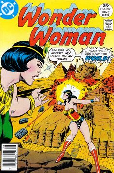 Wonder Woman n°232, June 1977, cover by Mike Nasser and Vince Colletta.