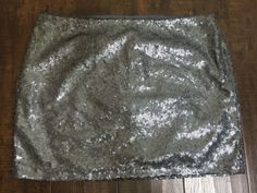 Gap Sequin Mini Skirt Size 8 Women's Silver Gray Sparkle Holiday New B3 | eBay