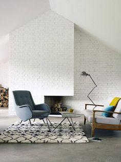 Du mobilier chic et design dans ce salon épuré