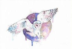 Owl and night by SophiaViolette.deviantart.com on @deviantART