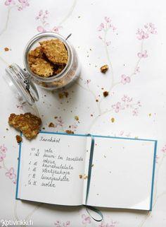 Kaurakeksit | Kotivinkki Food And Drink, Sugar, Snacks, Cookies, Desserts, Crack Crackers, Tailgate Desserts, Appetizers, Deserts
