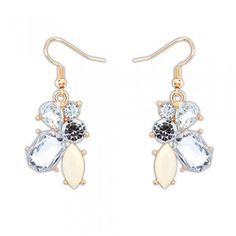 Occident fashion gemstone earrings sweet in Beige, available soon at Moods of Florence. Very Bridal looking.