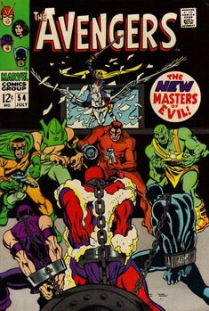 Avengers #54. The Masters of Evil and the Black Knight. Cover by John Buscema.