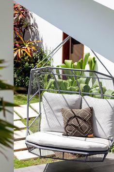 Villa JOJU- THE PERFECT FAMILY VILLA | Bali Interiors Backyard Pool Designs, Backyard Ideas, Pool Ideas, Interior Room Decoration, Interior Design, Small Fish Pond, Pool Paving, Seaside Restaurant, Fireplace Garden