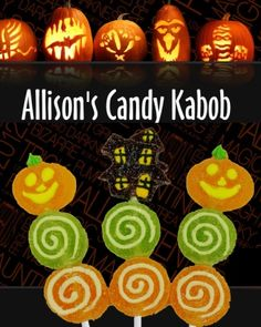 $12 for 12 Halloween Jelly Candy Kabobs Halloween Jelly, Candy Kabobs, Pumpkin Carving
