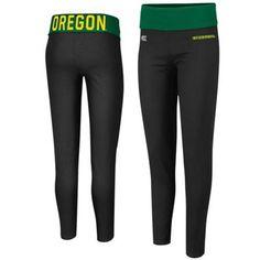 Oregon Ducks Ladies Pivot II Yoga Leggings - Black/Green