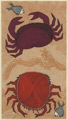 Waterlife crabs (Tara books) by peacay, via Flickr