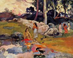 Women at the banks of river, 1892- Paul Gauguin