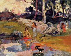 Women at the banks of river, 1892- Paul Gauguin